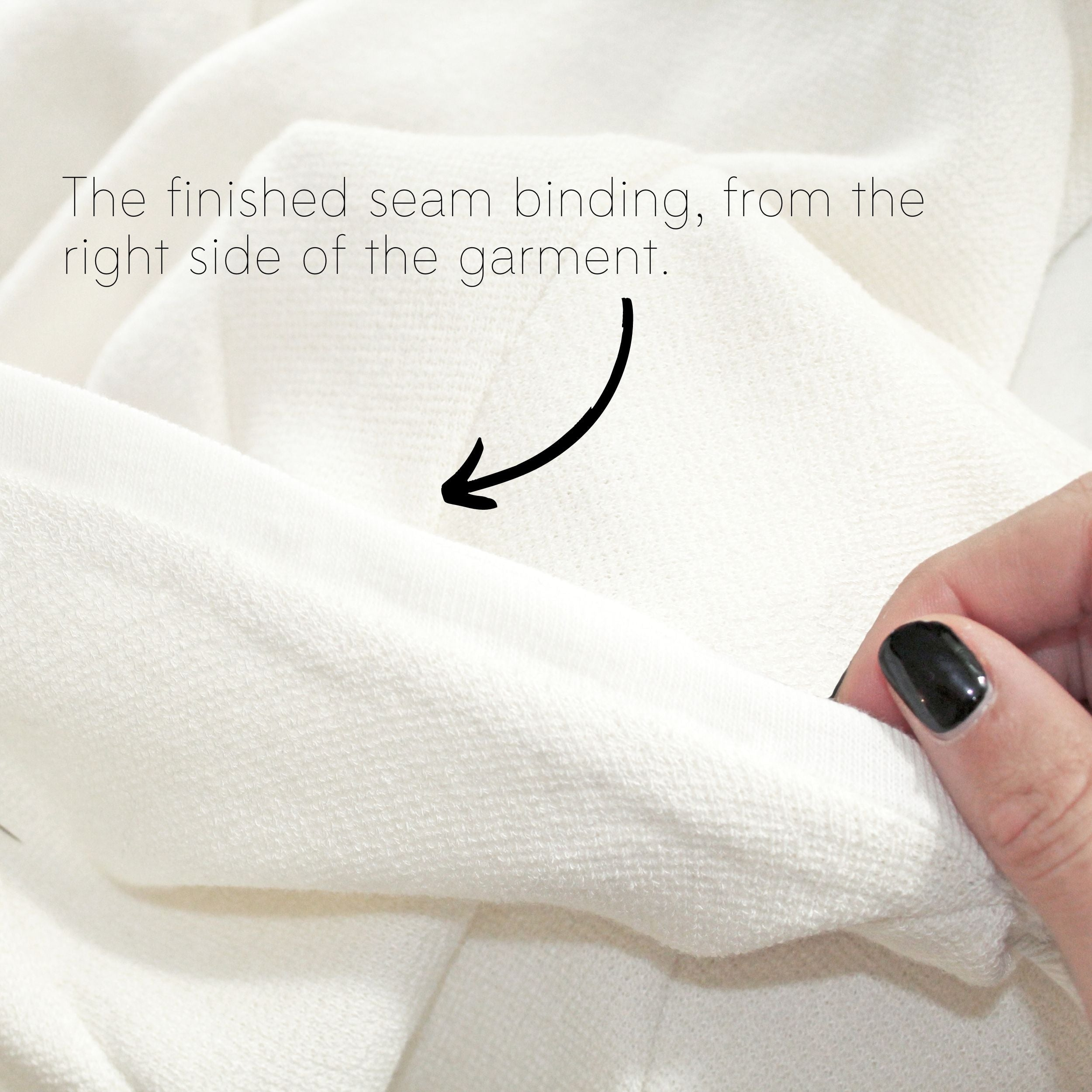 How To Sew A Knit Seam Binding Sewing Tutorial: Step 9.1