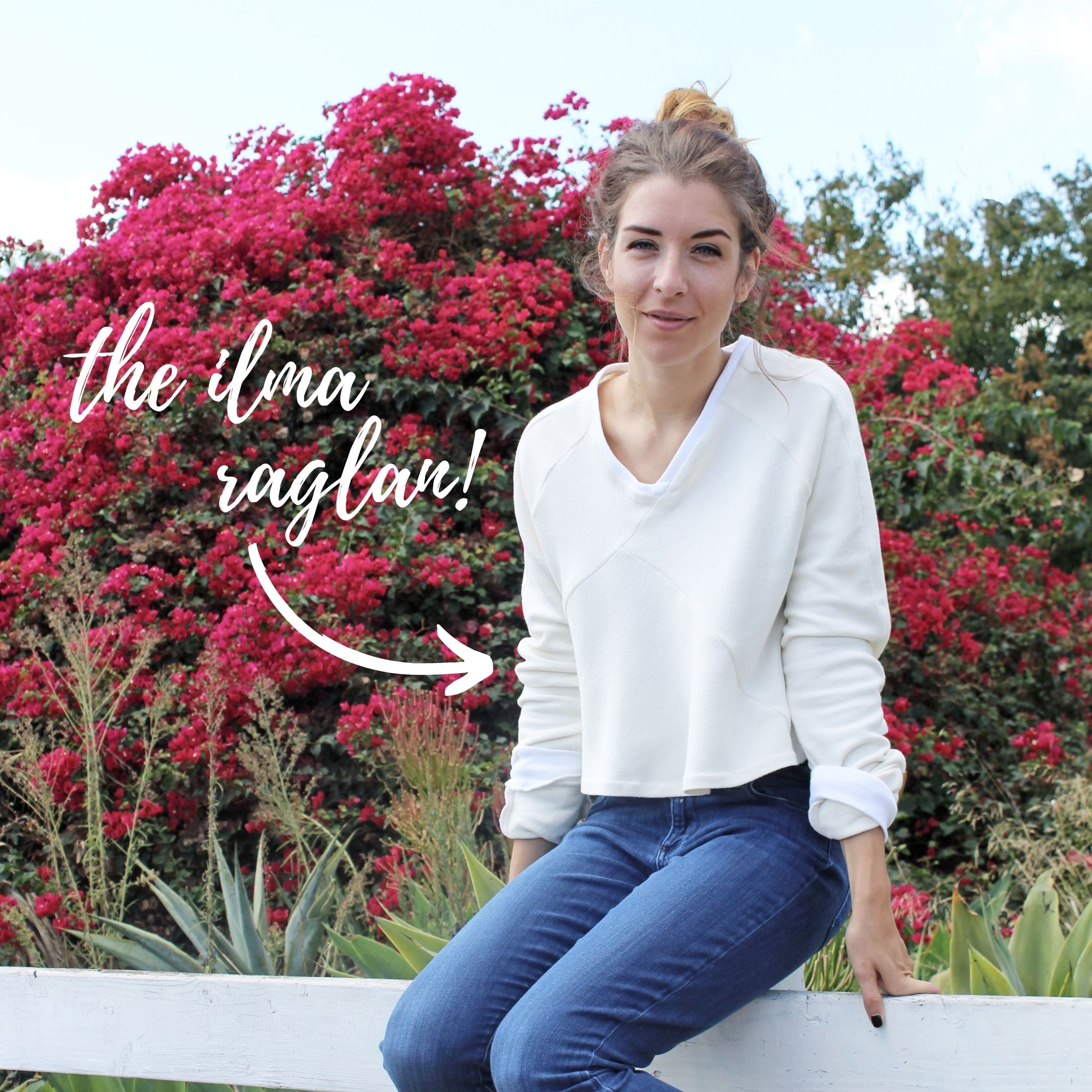 The Ilma Raglan Sewing Project & Knit Seam Binding: The Ilma Raglan
