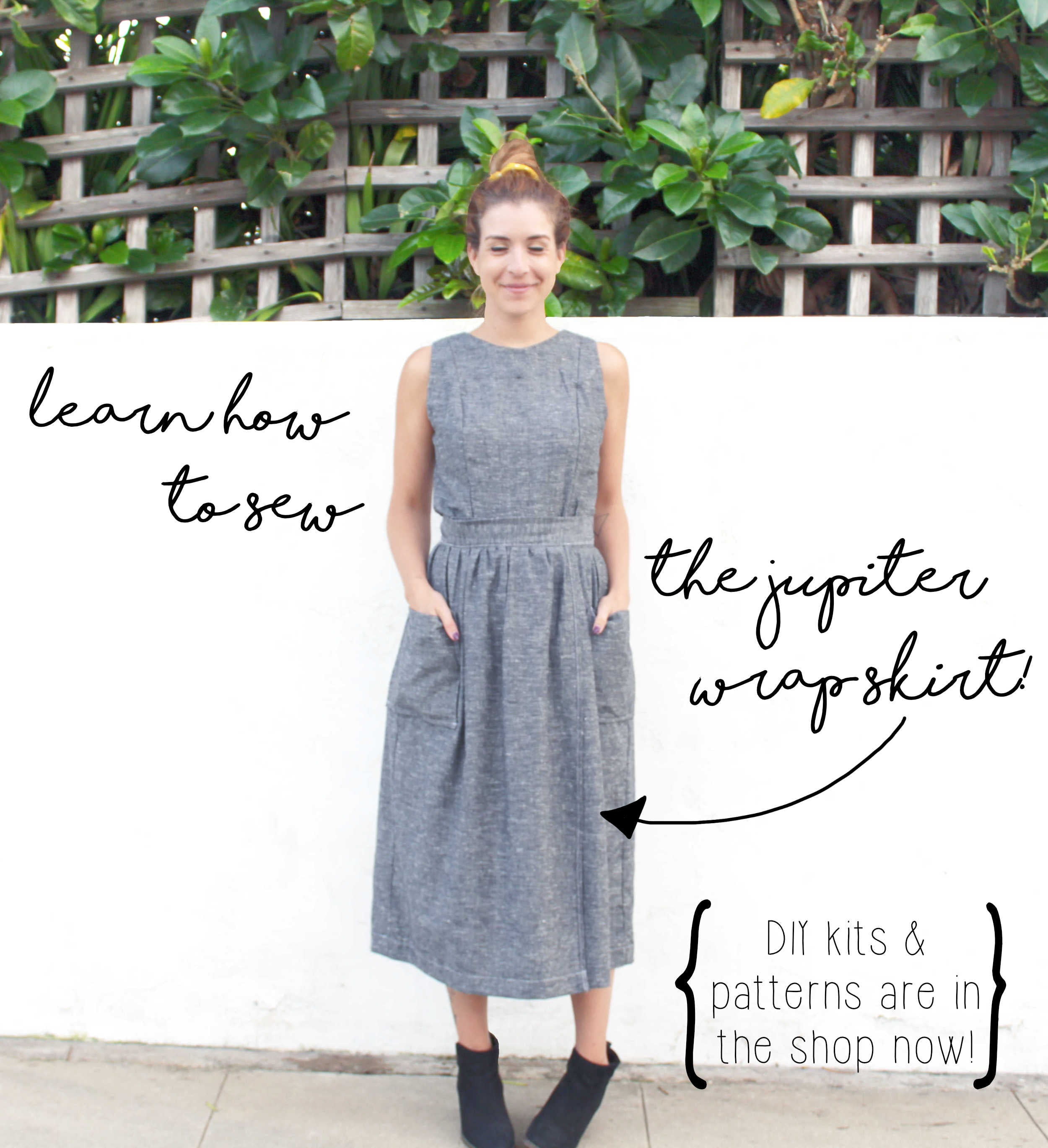 Learn How To Sew The Jupiter Wrap Skirt With A DIY Sewing Project Kit!