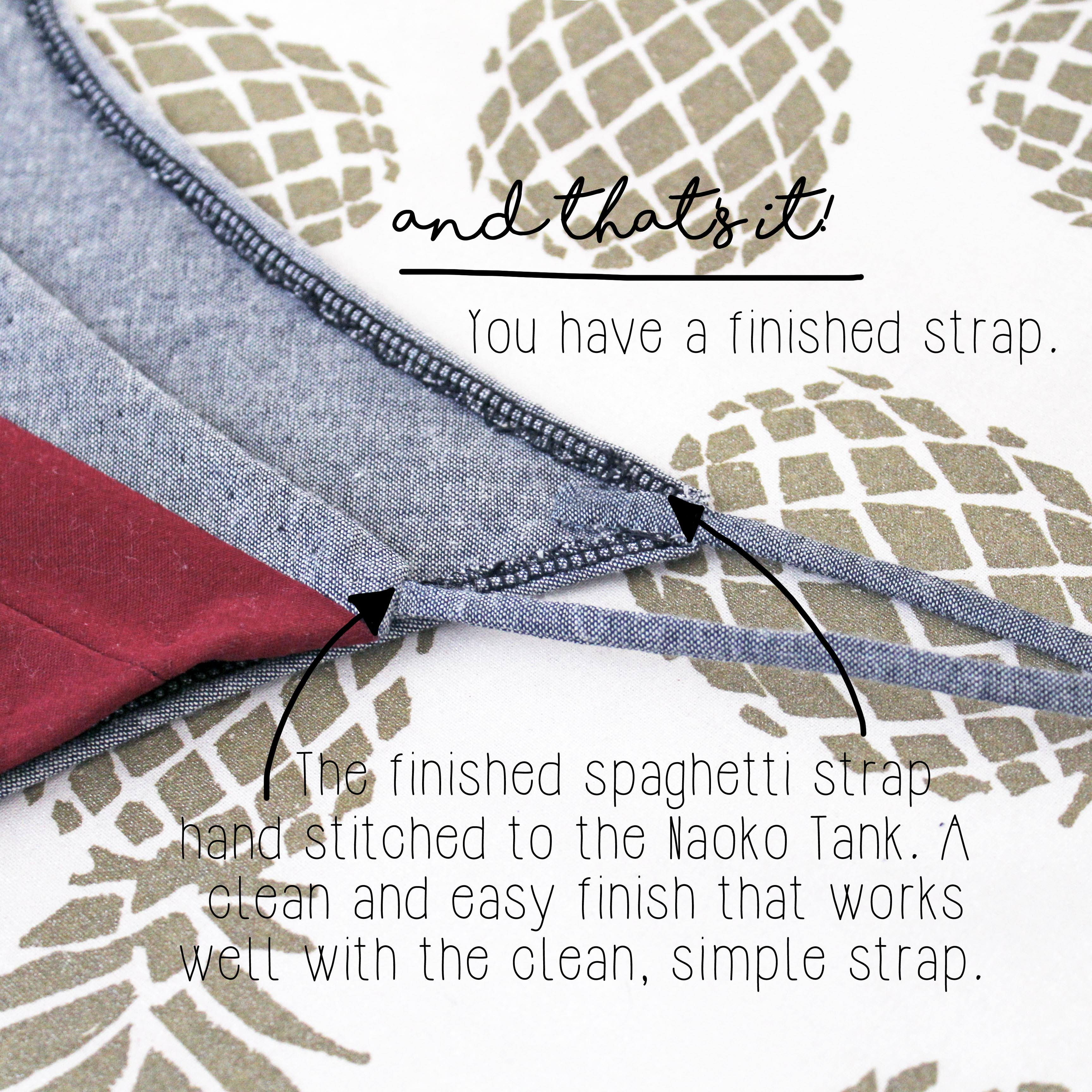 The Naoko Tank Sewing Tutorial Finished Spaghetti Strap