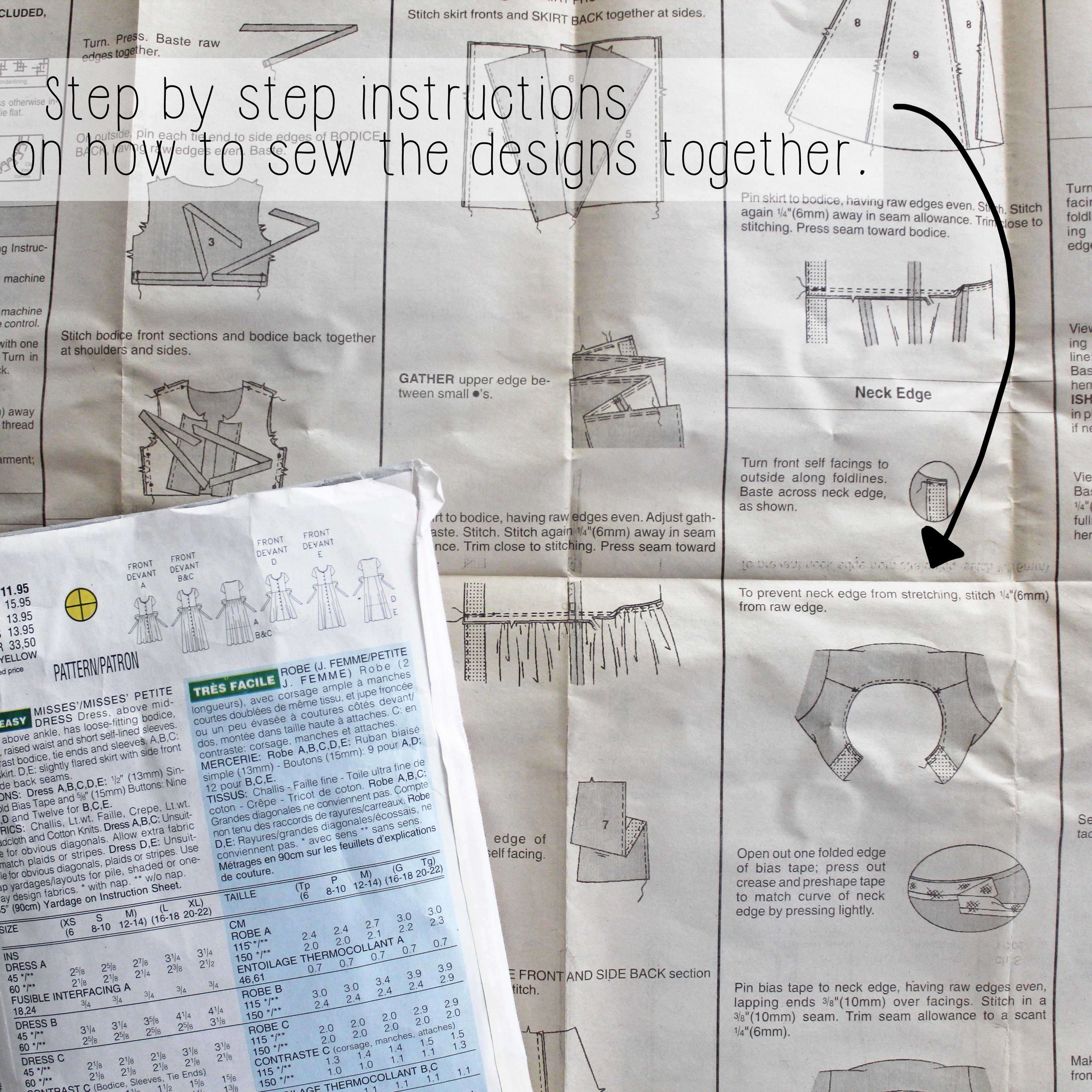 How To Read A Sewing Pattern Step By Step Instructions