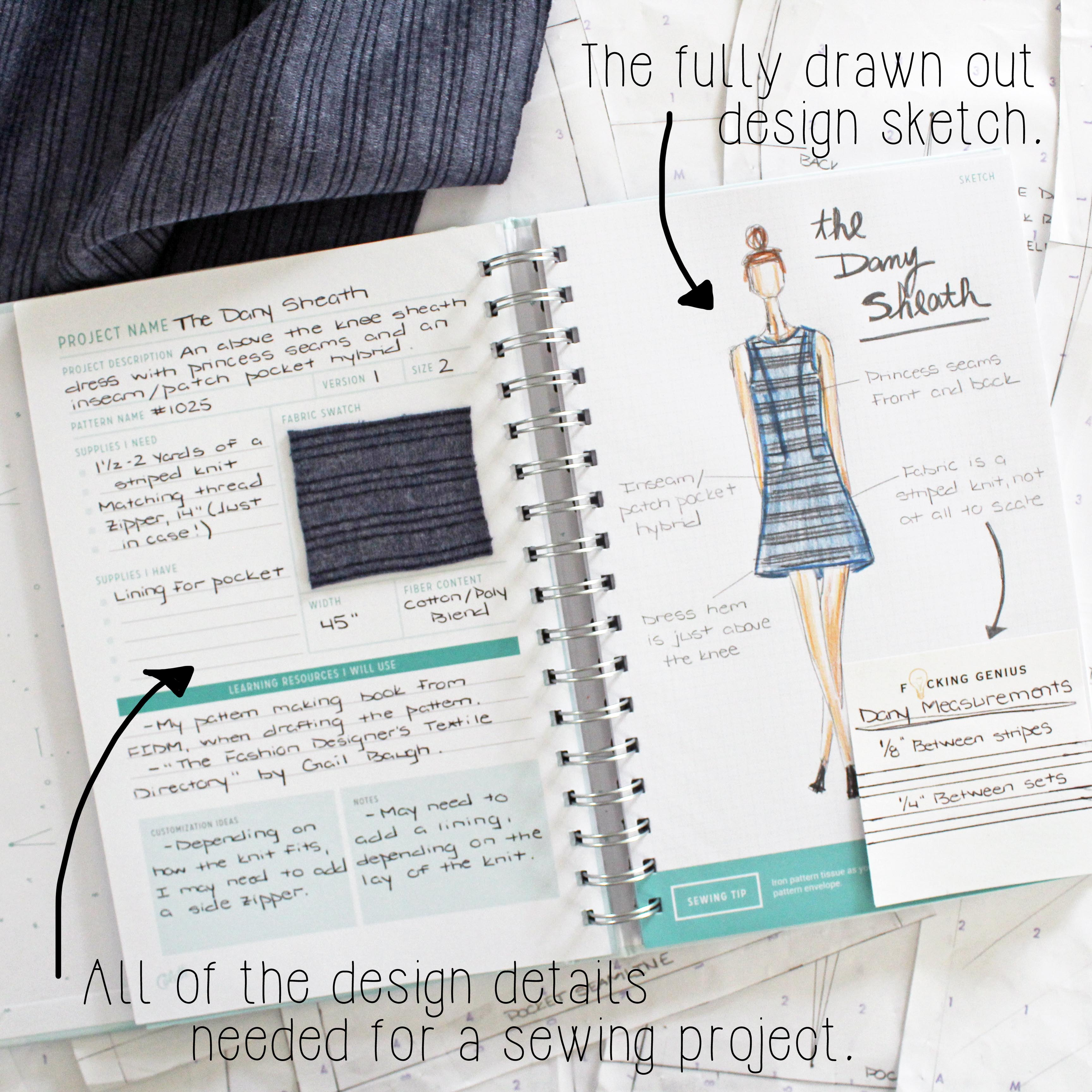 Sewing Project Planner Design Pages