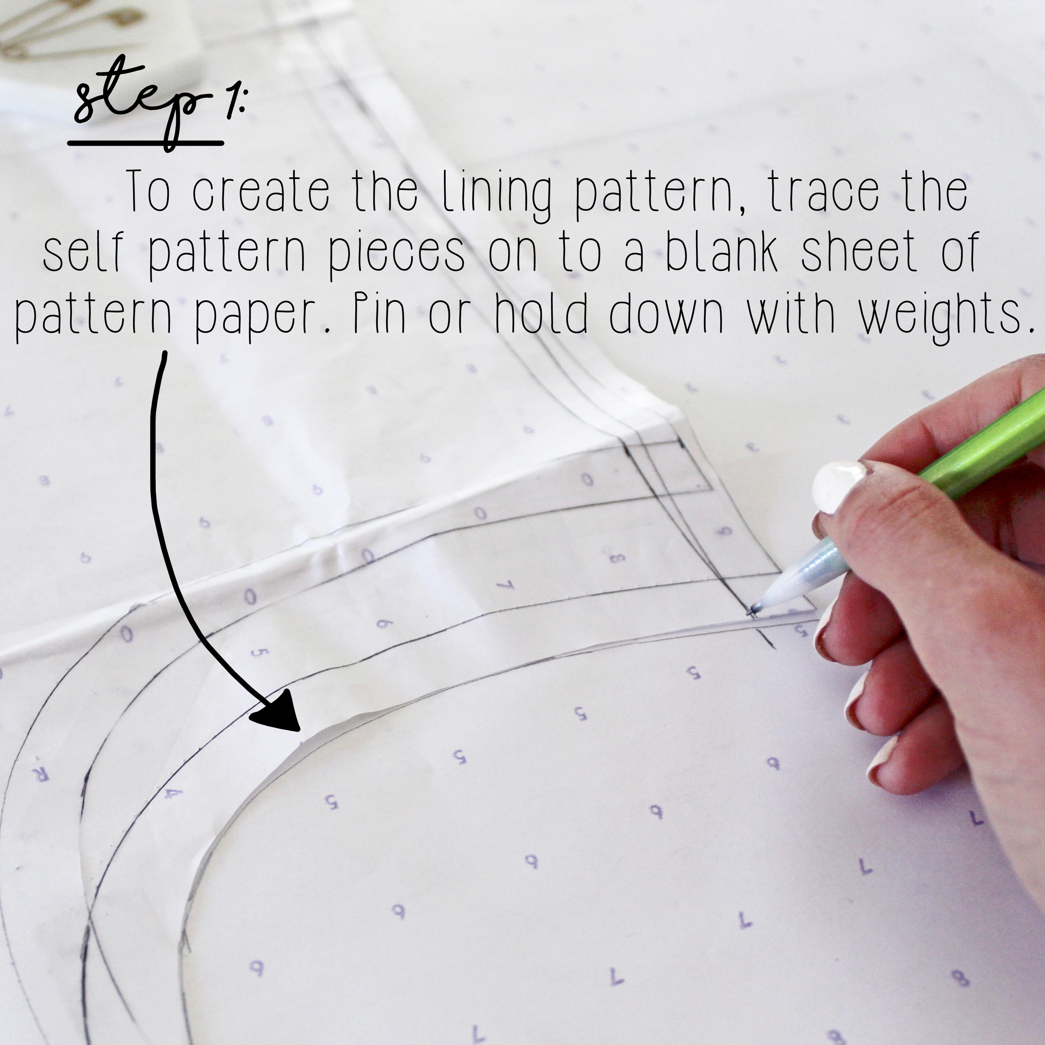 Sewing Tutorial How To Sew A Dress Lining Step 1