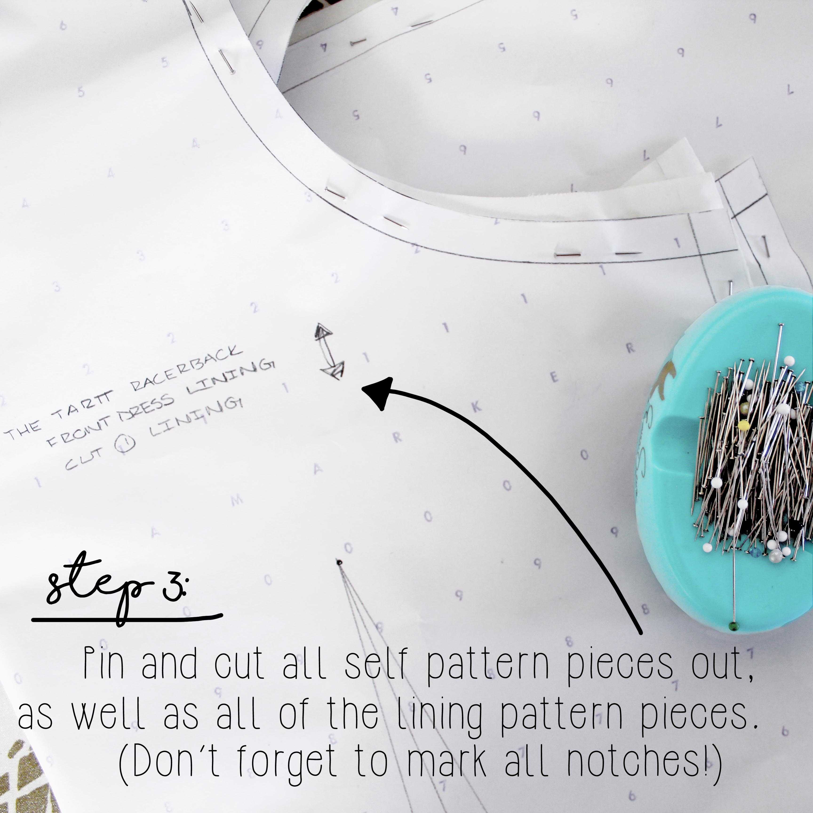 Sewing Tutorial How To Sew A Dress Lining Step 3