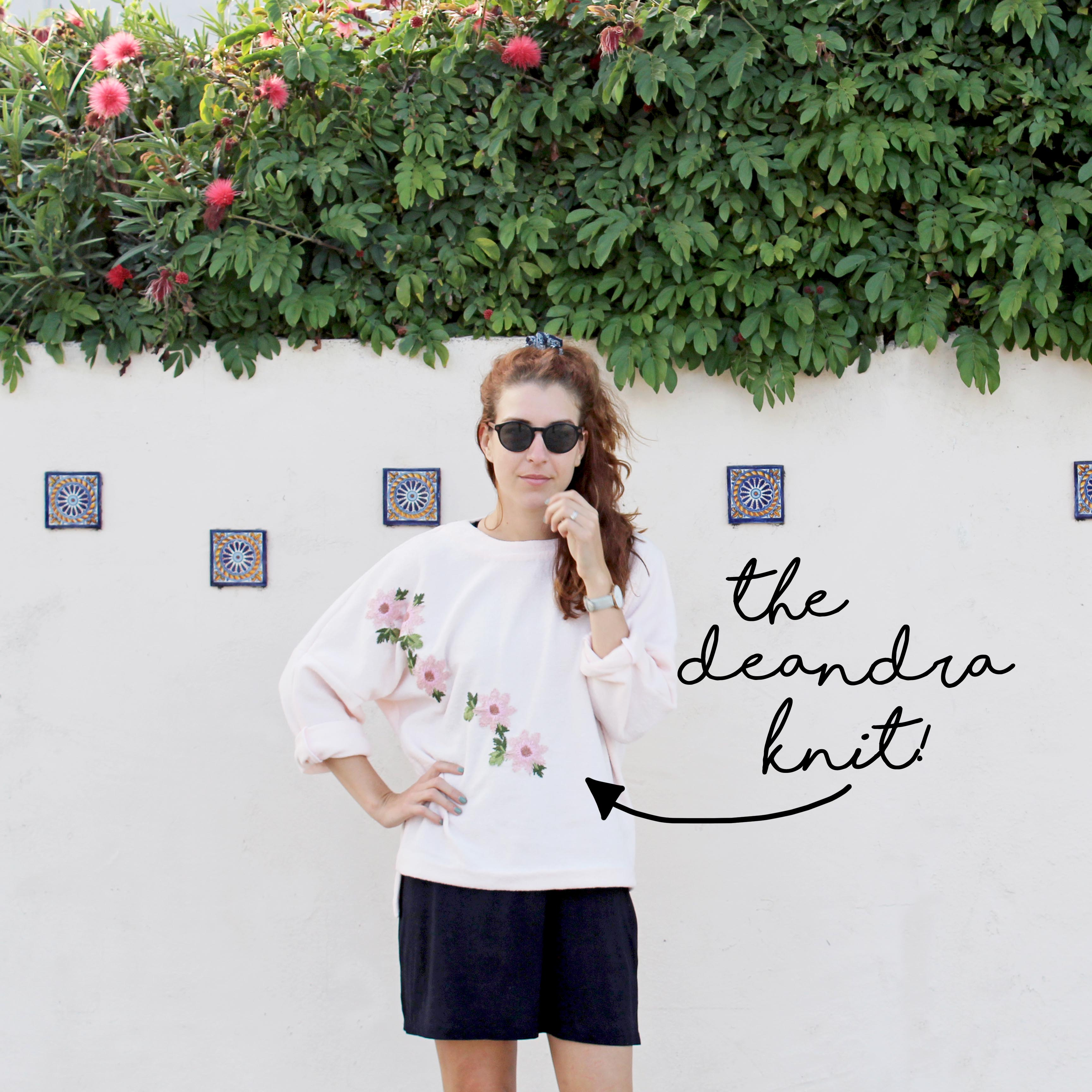 Easy Sewing Project: The Deandra Knit Mid Front View
