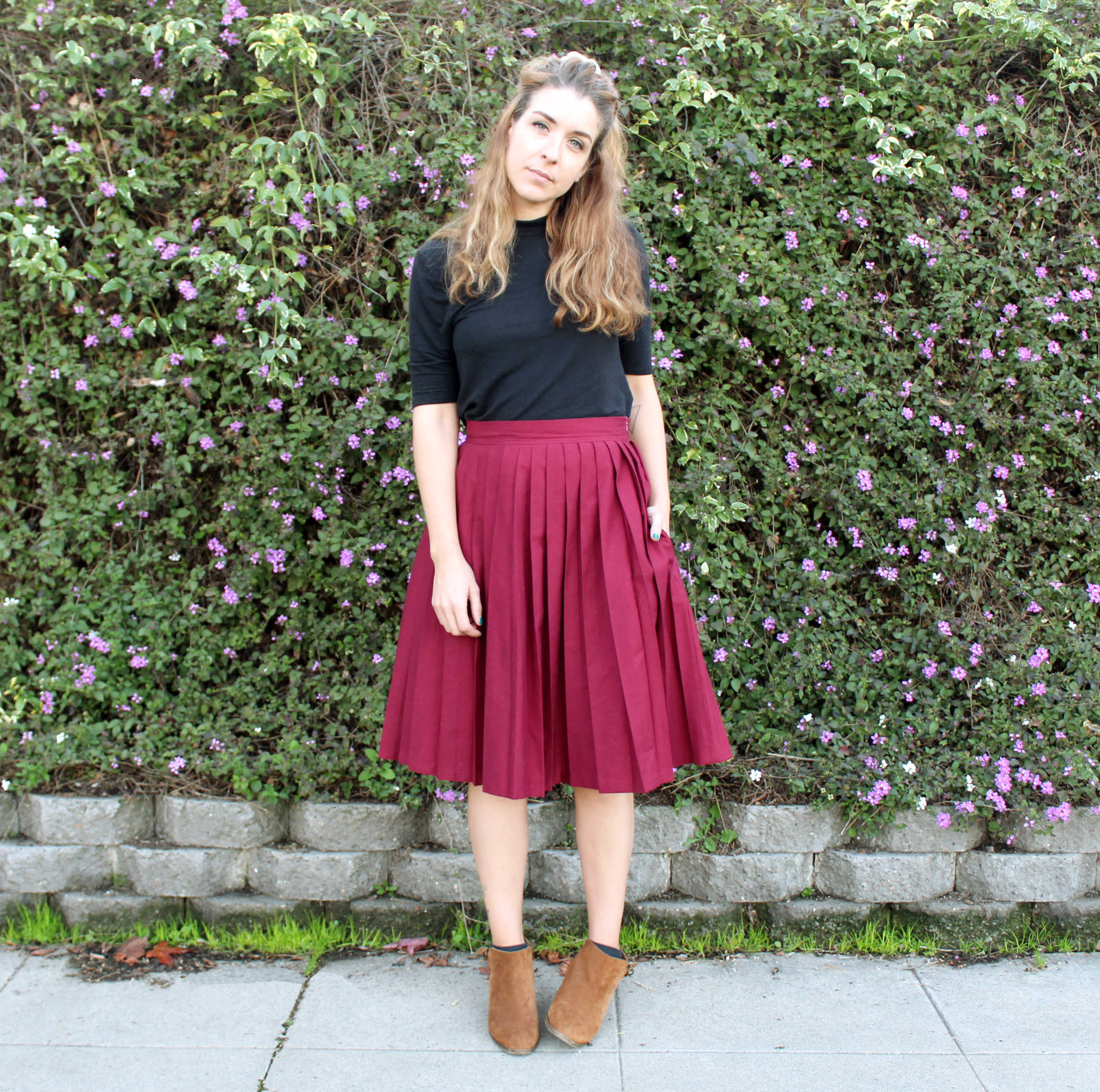 The Emma Skirt & How To Sew Pleats: Full Front View