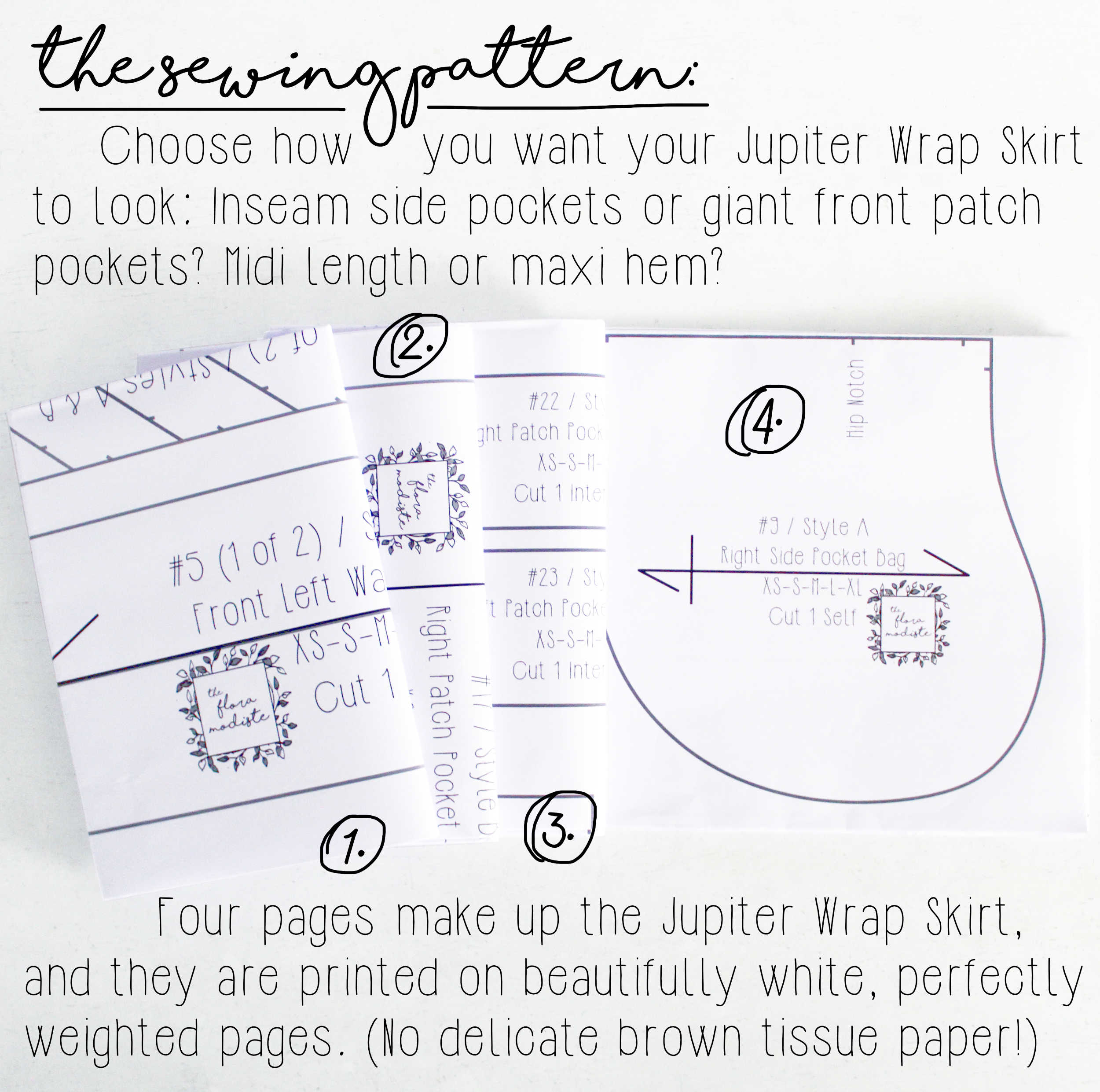 The Jupiter DIY Sewing Project Kit: Printed Sewing Pattern