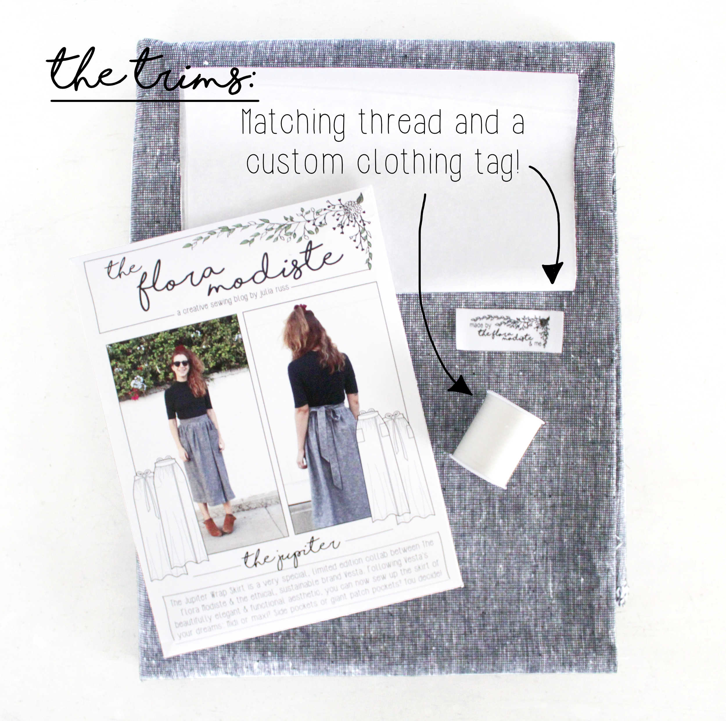 The Jupiter DIY Sewing Project Kit: Thread & Custom Label