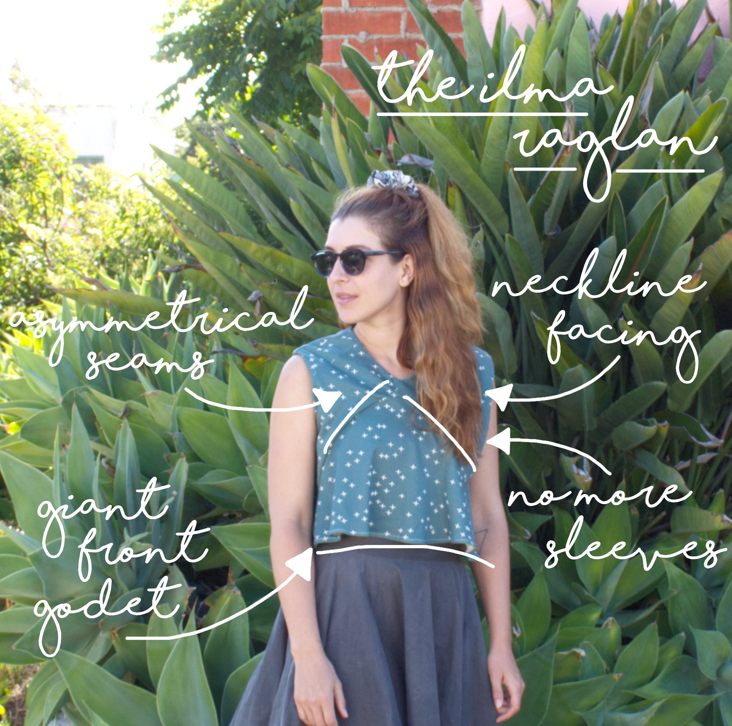 Sewing Pattern Variation: The Sleeveless Ilma Raglan Construction Details