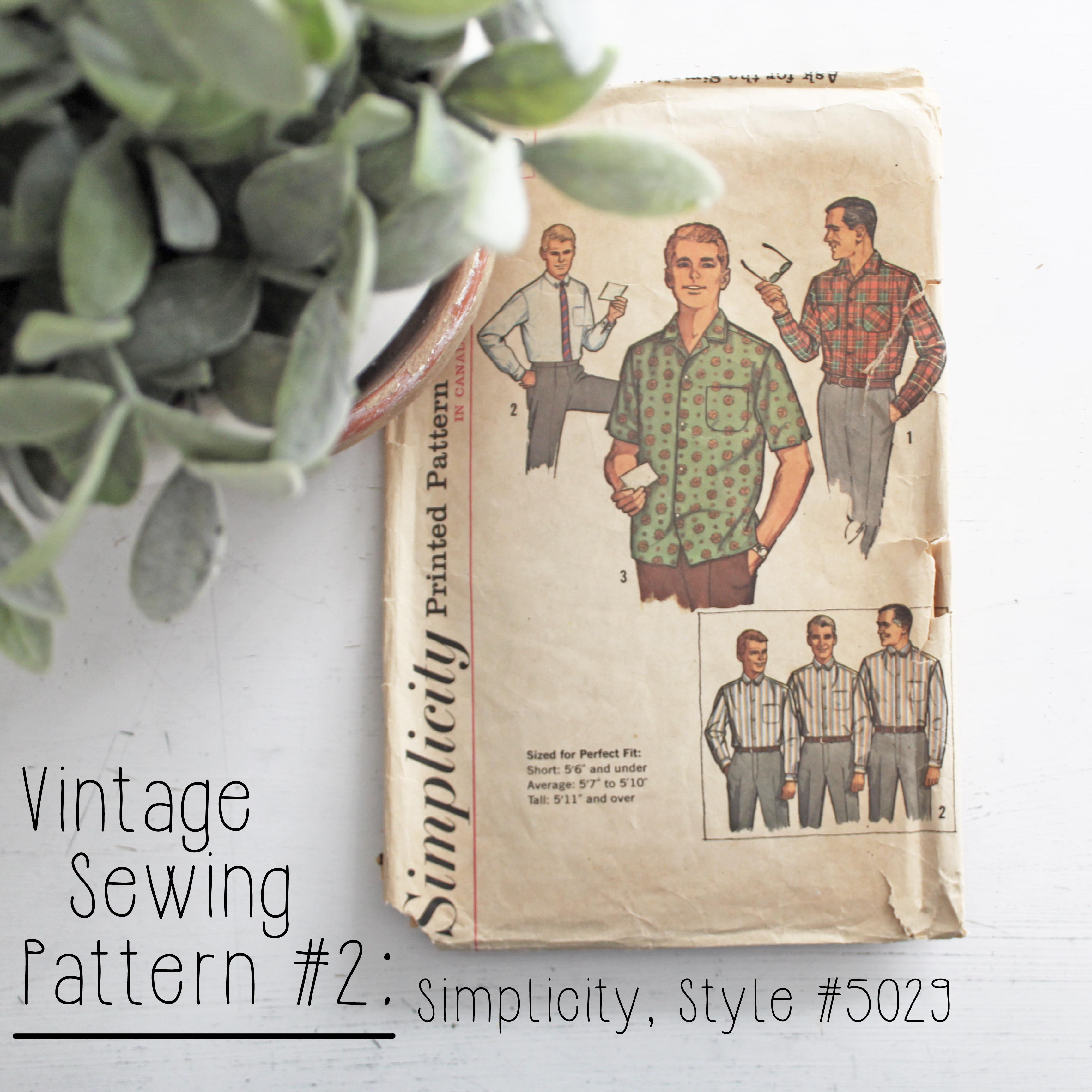 Vintage Sewing Pattern 2 Simplicity Style #5029