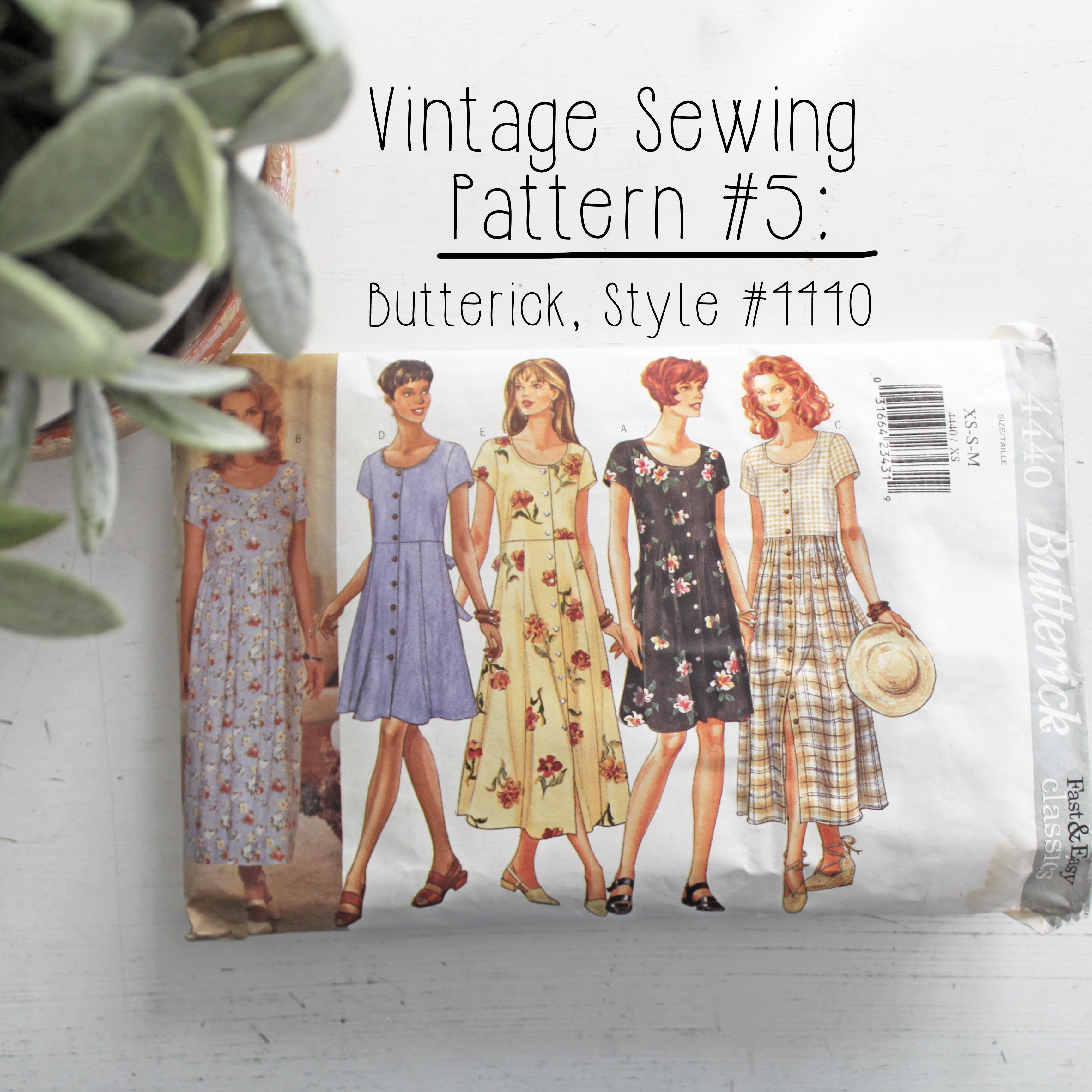Vintage Sewing Pattern 5 Butterick Style #4440
