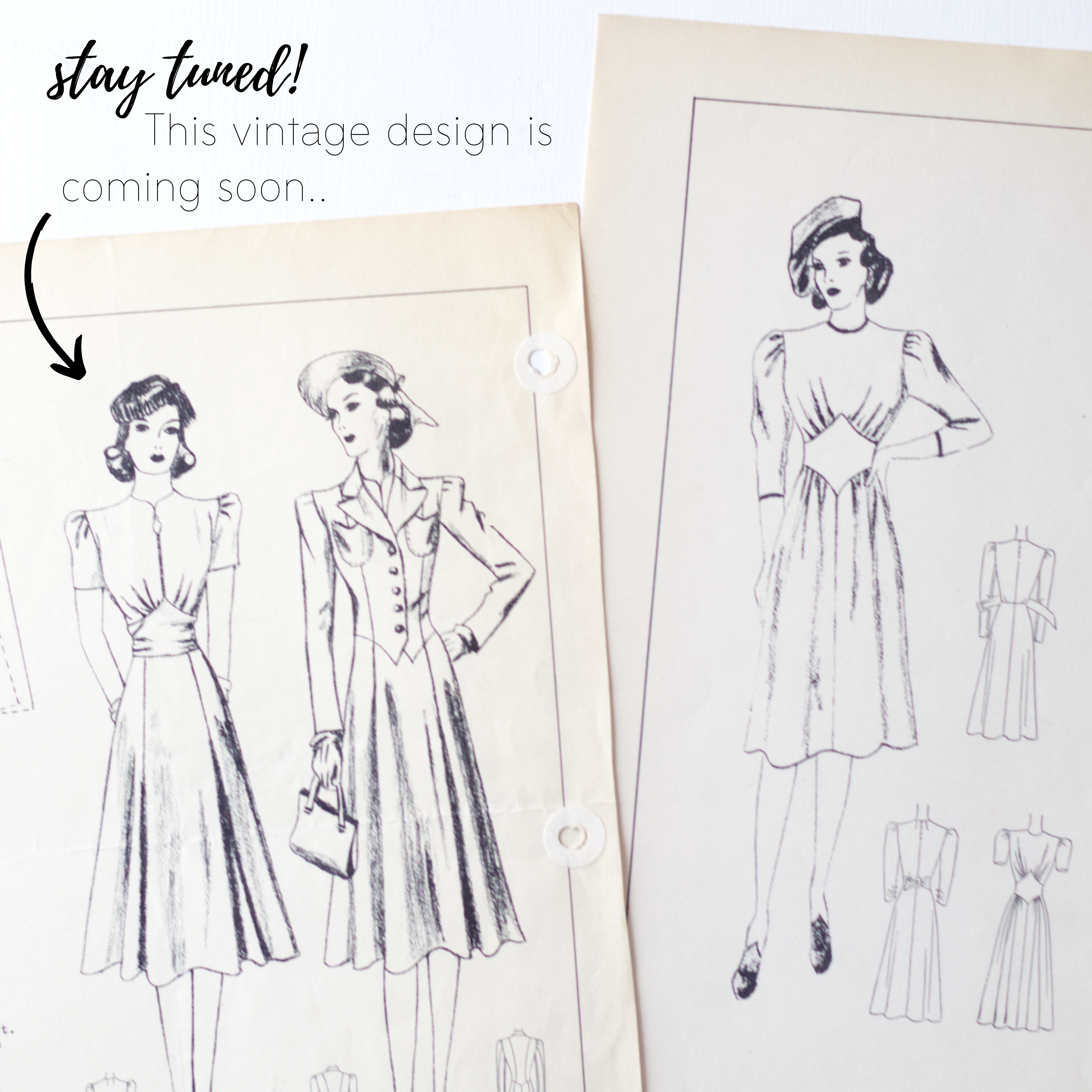Vintage sewing pattern inspiration: New design coming soon!