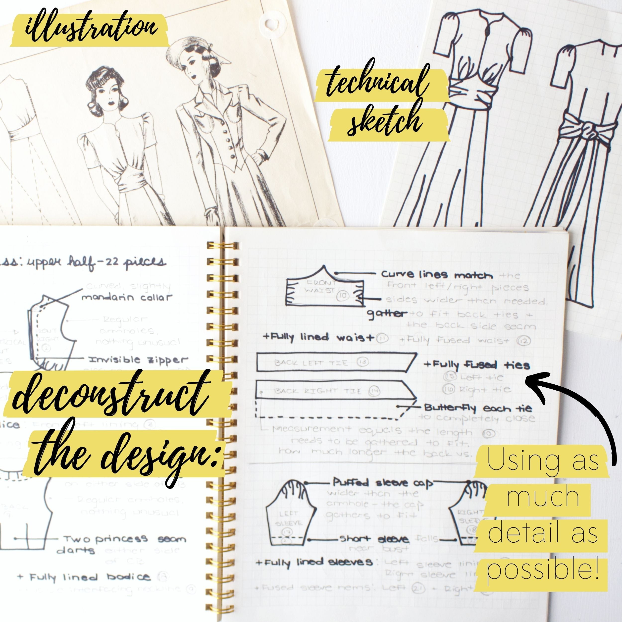 How to bring a vintage sewing pattern to life: Deconstruct the design