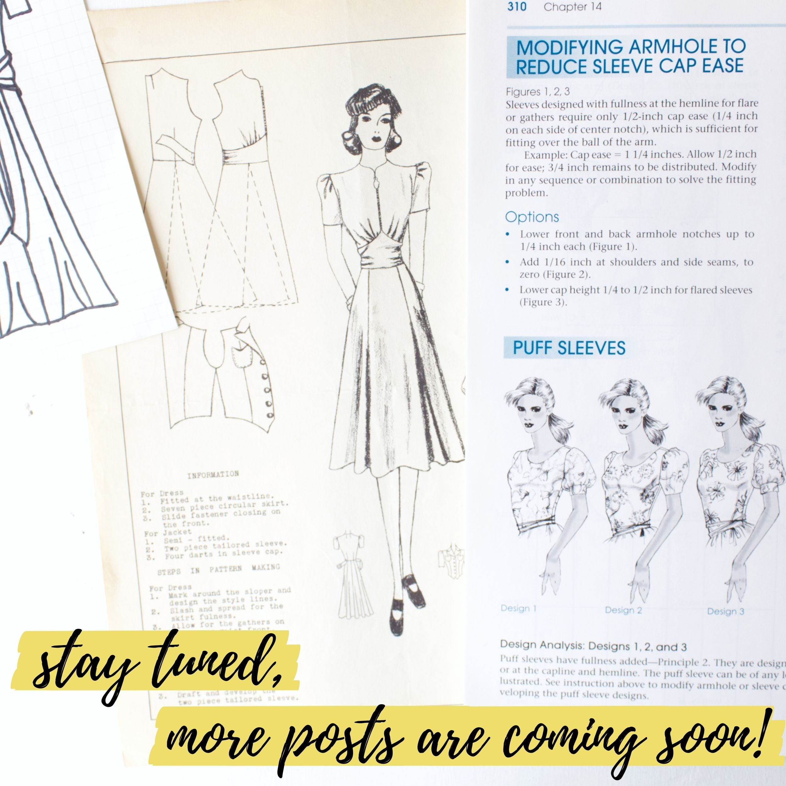 Stay tuned, more vintage sewing pattern posts are coming soon!
