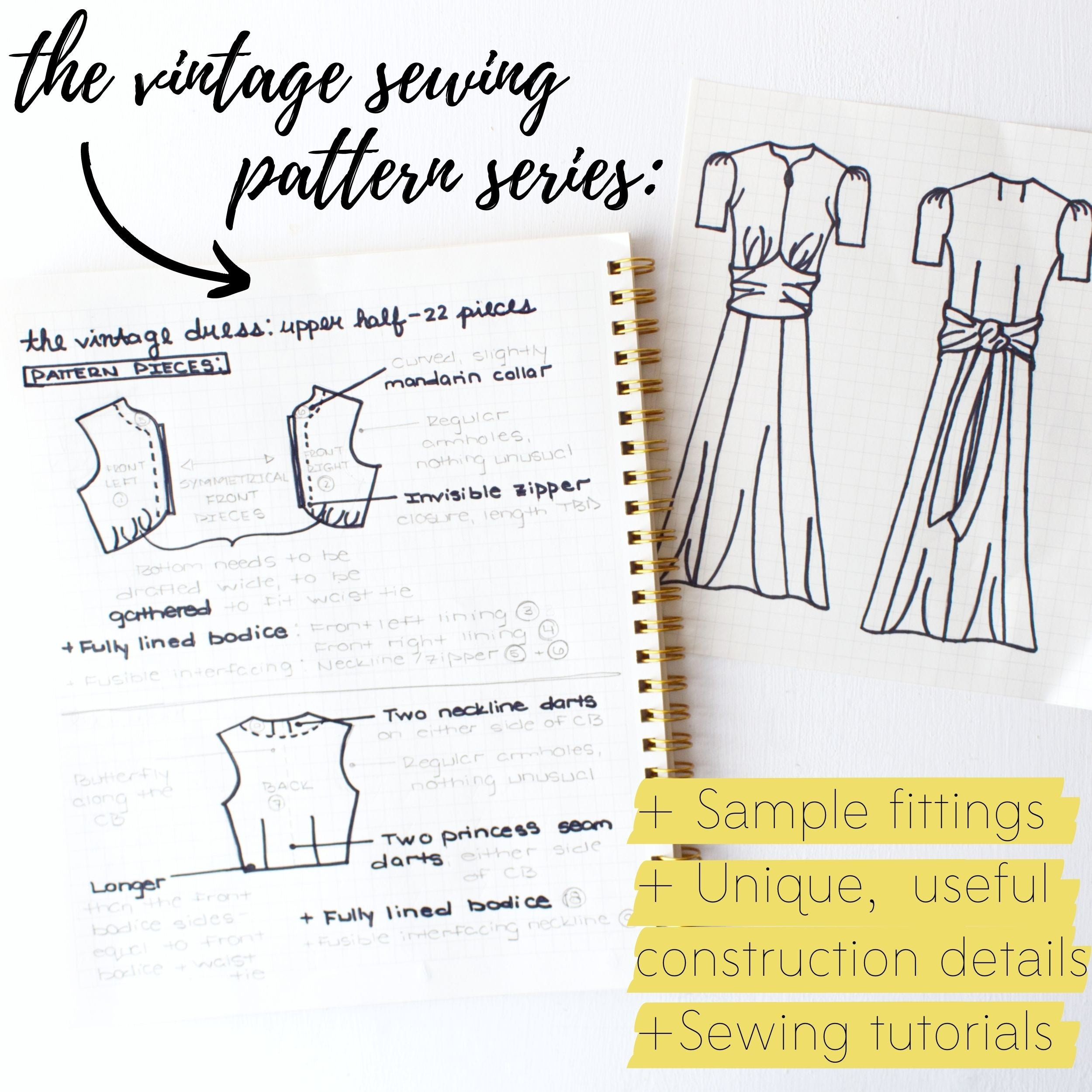 What is the vintage sewing pattern series?
