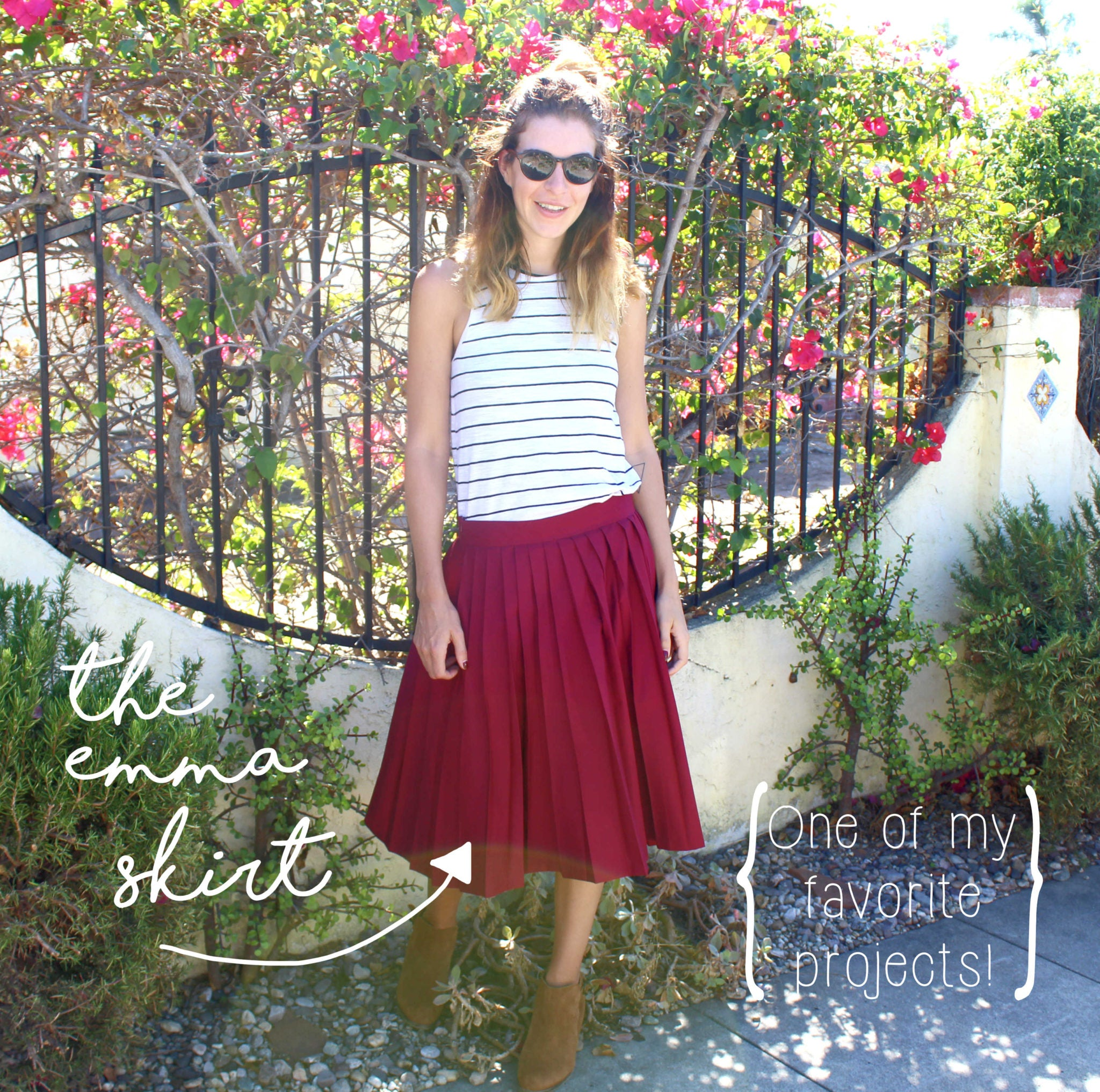 Learn How To Sew Your Own Clothes: The Emma Skirt Sewing Project