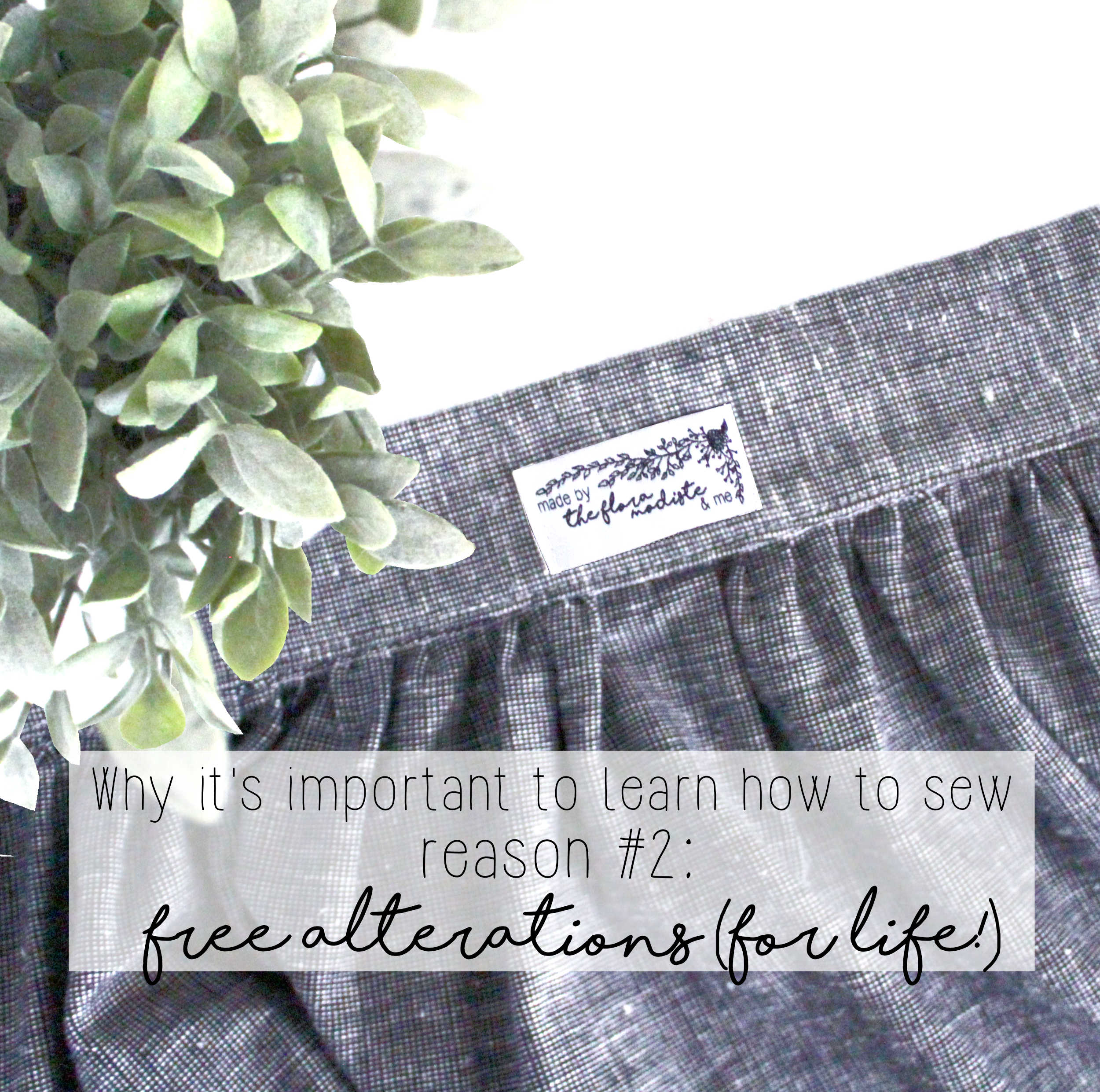 Why It's Important To Learn How To Sew: Reason #2