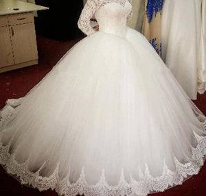 Long Sleeve Cheap Wedding Dress