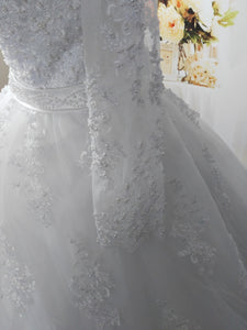 Elegant Pearls Wedding Dress