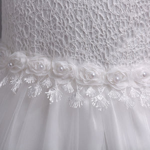 Lovely Lace Appliques Flower Girl Dress
