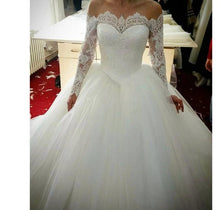 Load image into Gallery viewer, Long Sleeve Cheap Wedding Dress
