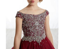 Load image into Gallery viewer, Elegant Sequins Flower Girls Dress