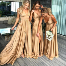 Load image into Gallery viewer, Sexy Slit Bridesmaid Dress