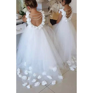 Cute Pearls Flower Girls Dress