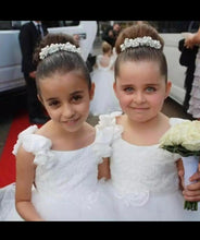 Load image into Gallery viewer, Cute Pearls Flower Girls Dress