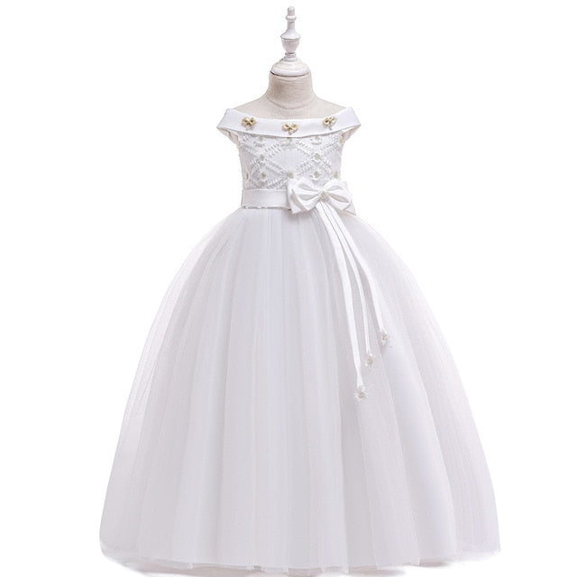 Puffy Flower Girl Dress