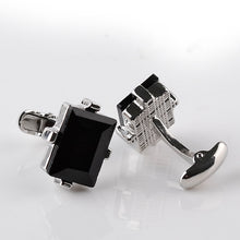Load image into Gallery viewer, Big Black Crystal Cuff-link