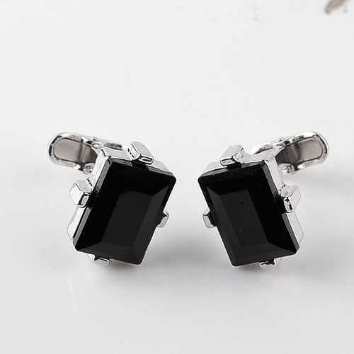 Big Black Crystal Cuff-link