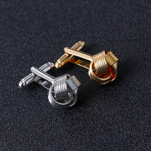 Load image into Gallery viewer, Knot Cuff-links for Men