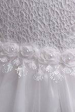 Load image into Gallery viewer, Lovely Lace Appliques Flower Girl Dress
