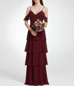 Long Elegant Bridesmaid Dress