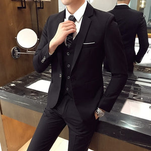 Polyester Men Wedding Suit