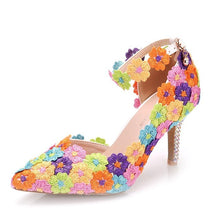 Load image into Gallery viewer, Flower Lace Shoes