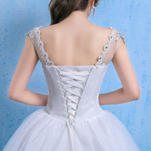 Load image into Gallery viewer, V Neck Appliques Bridal Gown