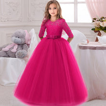 Load image into Gallery viewer, Elegant Flower Girl's Long Sleeve Lace Dress