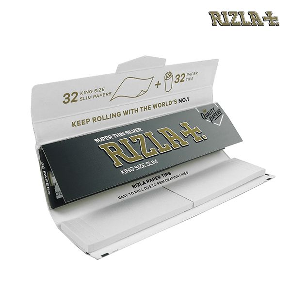 Rizla Silver Combi Pack - King Size Slim Rolling Papers + Paper Tips - Zootalicious