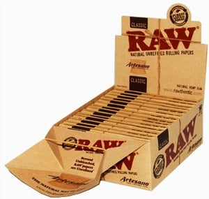 RAW Organic Artesano King Size Slim Rolling Papers & Tips - Zootalicious