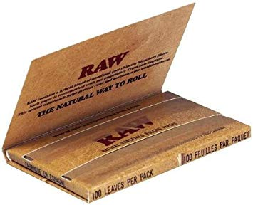 RAW Organic Hemp Single Wide Double Packs Standard Size Rolling Papers - Zootalicious