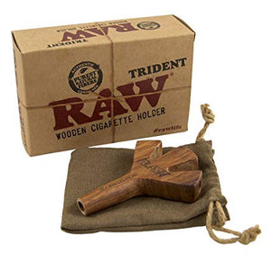 RAW Trident Triple Wooden Cigarette Holder - Zootalicious