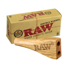 Load image into Gallery viewer, RAW Double Barrel King Size Wooden Cigarette Holder - Zootalicious