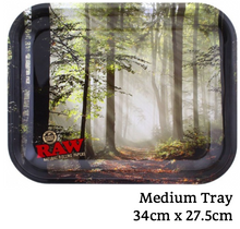 Load image into Gallery viewer, RAW Forest Metal Rolling Tray - Zootalicious