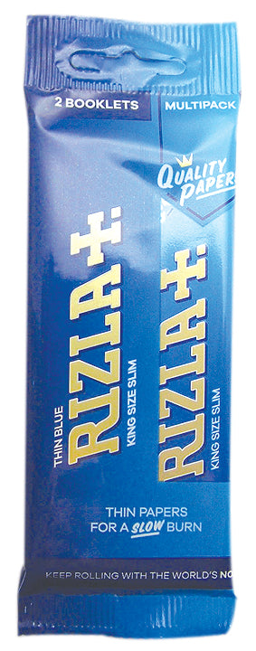 Rizla Blue King Size Slim Rolling Papers Hanger x 2 Pack - Zootalicious