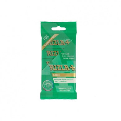 Rizla Green Regular Rolling Papers Hanger x 5 Pack - Zootalicious