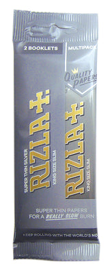Rizla Silver King Size Slim Rolling Papers Hanger x 2 Pack - Zootalicious
