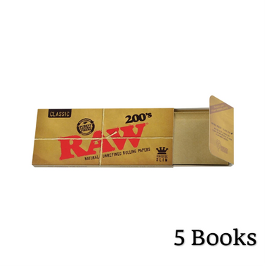 RAW Classic 200s King Size Slim Rolling Papers - Zootalicious
