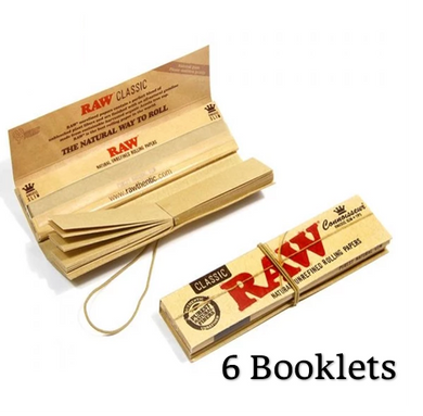 RAW Classic Connoisseur King Size Slim Rolling Papers & Tips - Zootalicious
